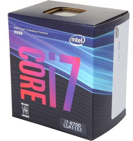 Intel Core i7-8700 Processor 12M Cache Up to 4.60 GHz - Socket 1151v2 Coffee Lake