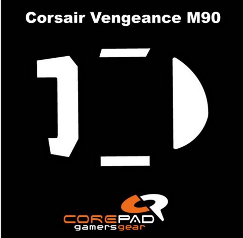 Corepad Skatez Pro for Corsair Vengeance M90/M95-100% PTFE Mouse feet