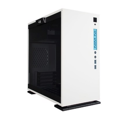 In-Win 301 White - Full Side Tempered Glass Mid-Tower Case