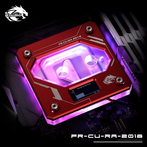Bykski FR-CU-RA-2018 Red - Digital RGB Temperature LCD Cpu Blocks