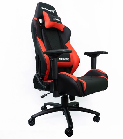 Anda Seat Dark Black/Red - Full PVC Leather 4D Armrest Kingsize Gaming Chair