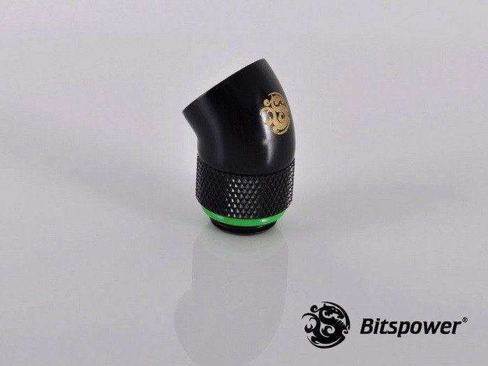 Bitspower G1/4'' Matt Black Rotary 45-Degree IG1/4'' Extender