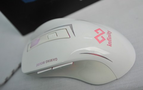 infinity Doom White - 2400 DPI Gaming Mouse