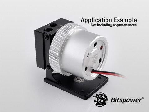 Bitspower D5 MOD Package (Black POM TOP S + MOD Kit V2 Silver)