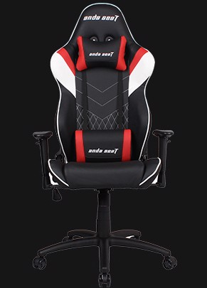 Anda Seat Assassin Black/Red V2 - Full PVC Leather 4D Armrest Gaming Chair