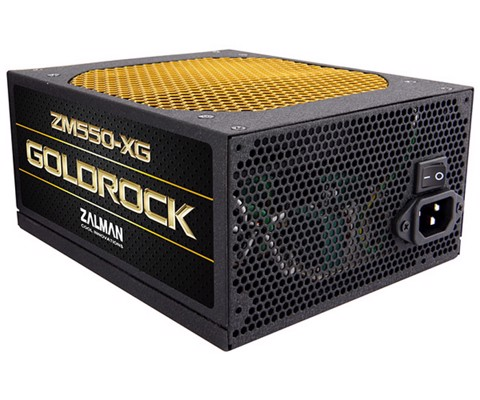 Zalman Goldrock 550W Single Rail - 80 Plus Gold - Modular PSU