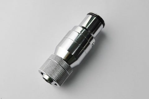 Bitspower Silver ShiningQuick-Disconnected Male With Rotary Compression Fitting CC3 For ID 3/8'' OD
