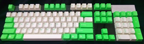 Tai-Hao Double Shot ABS Lime/White mixed - Full 104 keys