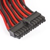 Phanteks Motherboard 24-pin Extension 500mm - Black/Red Sleeved Cable