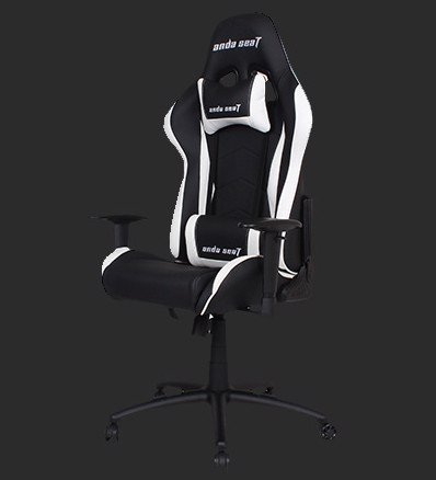 Anda Seat Axe Black/White - Full PVC Leather 4D Armrest Gaming Chair