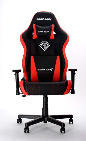 Anda Seat Spirit King Black/Red - Full PVC Leather 4D Armrest Gaming Chair