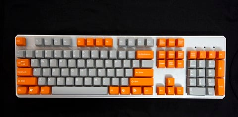 Tai-Hao Double Shot ABS Orange/Grey mixed - Full 104 keys