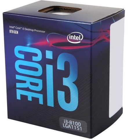 Intel Core i3-8100 Processor 6M Cache, 3.60 GHz - Socket 1151v2 Coffee Lake Box
