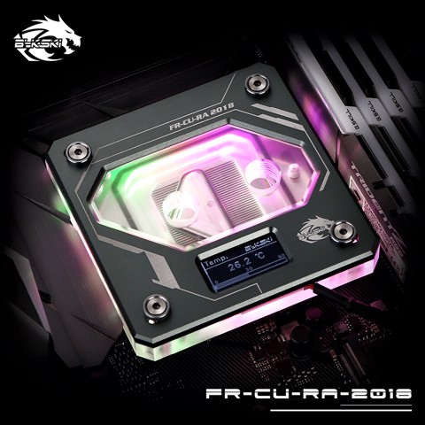 Bykski FR-CU-RA-2018 Grey - Digital RGB Temperature LCD Cpu Blocks