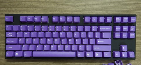 Tai-Hao Double Shot ABS Purple/White Text - Full 104 keys