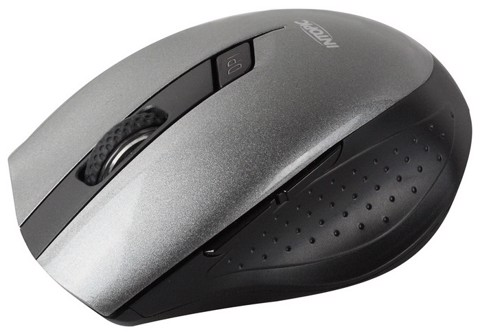 Intopic 590 Blue-LED Grey - Wireless Optical Mouse