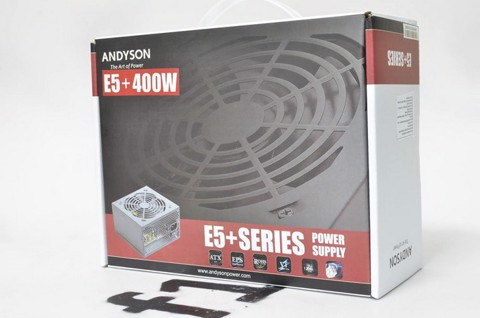 Andyson E5+ 400W -Passive PFC Single Rail True Power