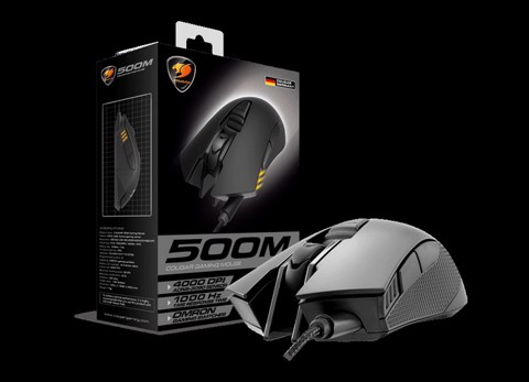 Cougar 500M Black RGB Led - Avago A3090 Optical Gaming Mouse