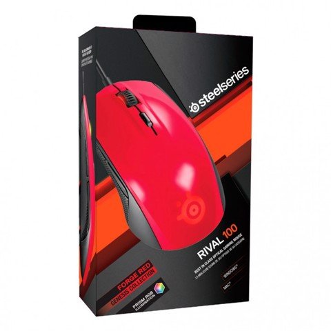 SteelSeries Rival 100 Forged Red - Mouse