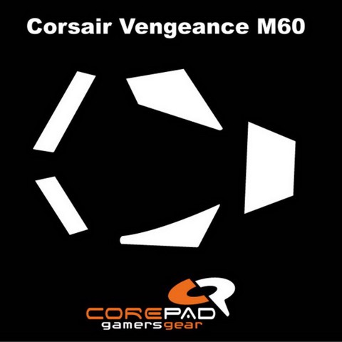 Corepad Skatez Pro for Corsair Vengeance M60/M65-100% PTFE Mouse feet