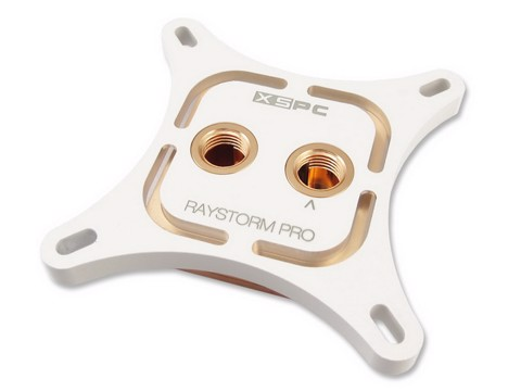 XSPC RayStorm Pro White Custom Led - Premium Cpu WaterBlock