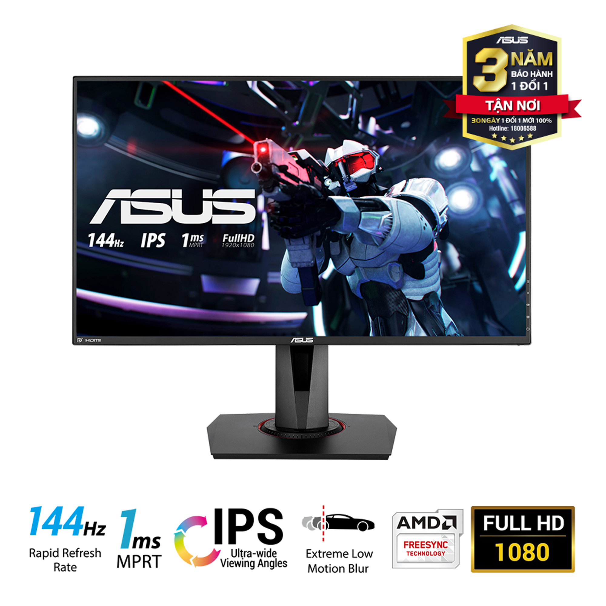 Asus VG279Q Full HD - 144Hz 1ms AMD FreeSync Gaming LCD