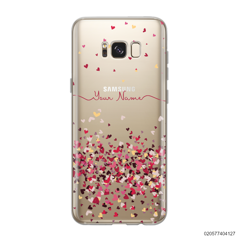 YOUR NAME WITH PINKY HEART - Samsung Galaxy S8