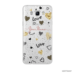 YOUR NAME WITH HEART PATTERN - Samsung Galaxy J7 2016