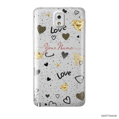 YOUR NAME WITH HEART PATTERN - Samsung Galaxy Note 3
