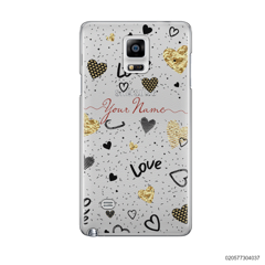 YOUR NAME WITH HEART PATTERN - Samsung Galaxy Note 4