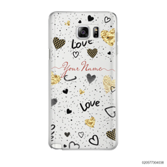 YOUR NAME WITH HEART PATTERN - Samsung Galaxy Note 5