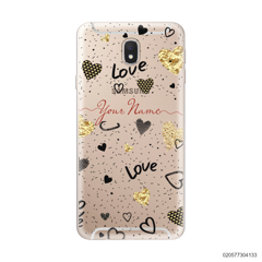 YOUR NAME WITH HEART PATTERN - Samsung Galaxy J7 Pro