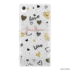 YOUR NAME WITH HEART PATTERN - Sony Xperia Z2