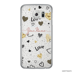 YOUR NAME WITH HEART PATTERN - Samsung Galaxy S6 Edge