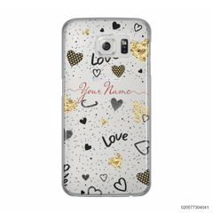 YOUR NAME WITH HEART PATTERN - Samsung Galaxy S6