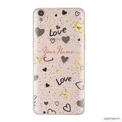 YOUR NAME WITH HEART PATTERN - Oppo F1 Plus