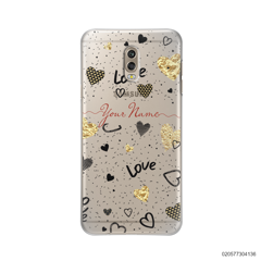 YOUR NAME WITH HEART PATTERN - Samsung Galaxy J7 Plus