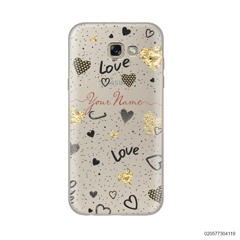 YOUR NAME WITH HEART PATTERN - Samsung Galaxy A7 2017