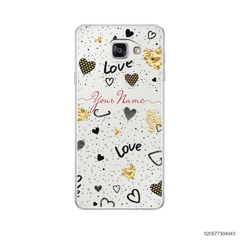 YOUR NAME WITH HEART PATTERN - Samsung Galaxy A5 2016