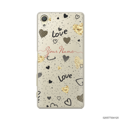 YOUR NAME WITH HEART PATTERN - Sony Xperia X