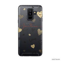 YOUR NAME WITH HEART PATTERN - Samsung Galaxy A6 Plus 2018