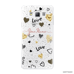 YOUR NAME WITH HEART PATTERN - Samsung Galaxy A7 2015