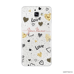 YOUR NAME WITH HEART PATTERN - Samsung Galaxy A9 Pro