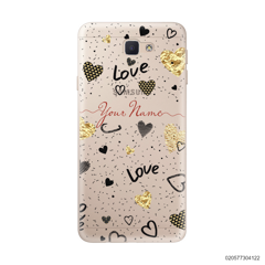 YOUR NAME WITH HEART PATTERN - Samsung Galaxy J5 Prime
