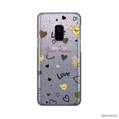 YOUR NAME WITH HEART PATTERN - Samsung Galaxy A8 Plus 2018