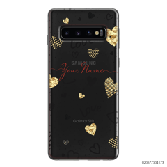 YOUR NAME WITH HEART PATTERN - Samsung Galaxy S10