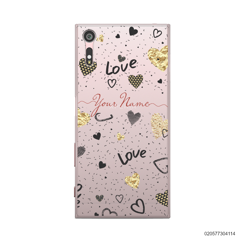 YOUR NAME WITH HEART PATTERN - Sony Xperia XZ