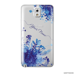 YOUR NAME WITH BLUE PLANT - Samsung Galaxy Note 3