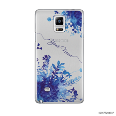 YOUR NAME WITH BLUE PLANT - Samsung Galaxy Note 4