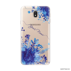 YOUR NAME WITH BLUE PLANT - Samsung Galaxy J7 Pro